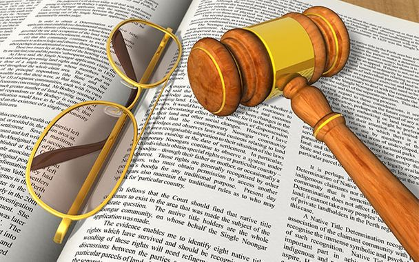 Gavel, Glasses and Law Book
